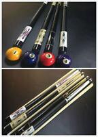 "58"" 4/3/2/1 Piece Hardwood Maple Sneaky Pete Pool Cue Billiard Stick Choose 19OZ"