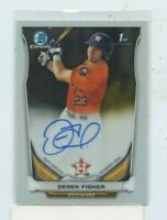 Derek Fisher 2014 Bowman Chrome RC Rookie Auto Autograph BCA-DF Houston Astros