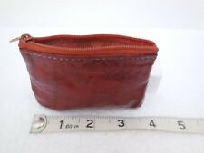 Vintage Soft Brown Leather Coin Purse ~ Zip Closure