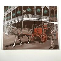 """Oil Painting On Canvas French Quarter Buggy Tours TOMMY YOW Signed 16""""x 20"""""""
