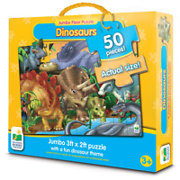 The Learning Journey: Jumbo Floor Puzzles - Dinosaurs - Extra Large Puzzle 3 ft