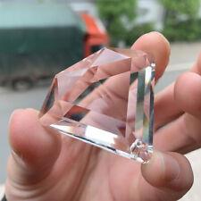 50MM Faceted Glass Diamond Shaped Crystal Chandelier Prism Lamp Part Suncatcher