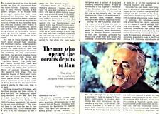 1969 Tv Article Jacques Cousteau~Man Who Opened The Ocean'S Depths~5 pages