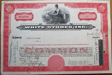 'White Stores, Inc.' 1966 Retail Stock Certificate - Wichita Falls, Texas TX