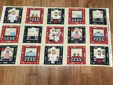 In The  Kitchen Chef Potholders Cotton Fabric Panel sewing craft