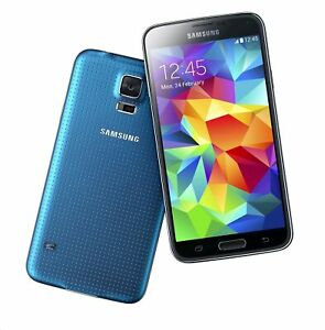 NEW ELECTRIC BLUE SPRINT SAMSUNG GALAXY S5 SM-G900P SMART CELL PHONE KD23 B