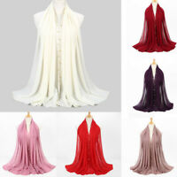 Fashion Women Ladies Chiffon Scarf Muslim Soft Wrap Long Shawl Scarves Casual