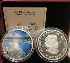 2018 Fireworks Niagara Falls Horseshoe Glow-Dark $30 2OZ SilverProof Coin Canada