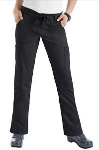 KOI Stretch Lindsey Scrub Pants 710-T-002 Black Small Tall NEW W/ TAGS $36