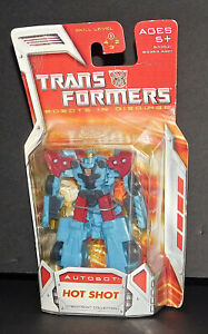 """Transformers Autobot Hot Shot Robots in Disguise 2007 Hasbro Sealed New 3"""" Tall"""