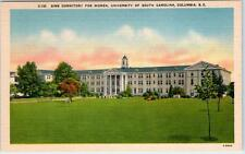 COLUMBIA, SC  University of South Carolina  Sims Dormitory for Women  Postcard