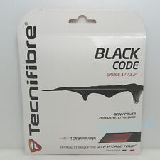 2x Tecnifibre Black Code 40ft/12.2m Polyester Tennis String Gauge 18/17