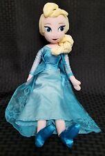 "Disney Store Frozen Nordic Flake ELSA 20"" Plush Doll EUC"