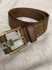 Timberland  Brown Men Belt Leather 36 New