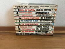 Lot of 11 Edgar Rice Burroughs ~Mars Series/John Carter ~Princess, Gods, Swords+
