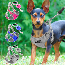 Step In Dog Harness and Leash Reflective Mesh Padded Vest Adjustable Bulldog S/M