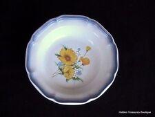 Mikasa Country Club Amy Rim Soup/Salad Bowl Yellow Wildflowers Blue Edge