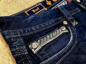 Rock Revival Klarry Boot E1032B400L Denim women jeans size 27 X 34 - NEW