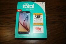 New Sealed Total Wireless Samsung Galaxy S6 32Gb (S906L) Prepaid Smartphone S5