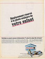 PUBLICITE ADVERTISING 094 1967 SIX DE SAVOIE fromage à la crème fraîche