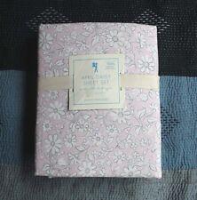 NEW Pottery barn kids April Daisy Organic sheet set Twin girls pink