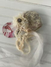 Baby Girl Hat BONNET Pixie Handmade, 0-3 months Photo Photo Prop Baby Bugaloo