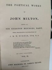 Milton Poetical Works 1835 poetry collection
