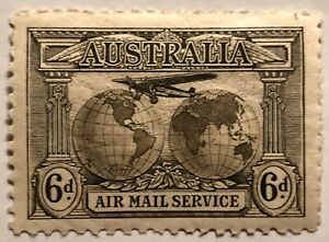 Australia 1931 6d Air Mail stamp, mint, hinged