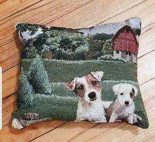 Jack Russell Parsons Terrier Puppy Dog pillow Golden Horn Creations Mydogsocks