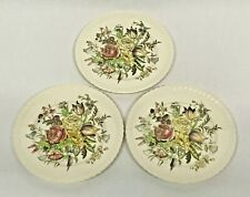 Set/3 Johnson Bros. Windsor Ware Garden Bouquet Bread and Butter Plates England
