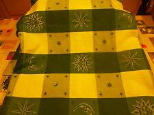 tissus  ameublement vert le soleil,la lune ,les astres 1m,75x1,60