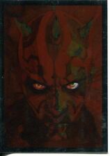 Star Wars Galaxy 7 Silver Foil Chase Card #10 Darth Maul