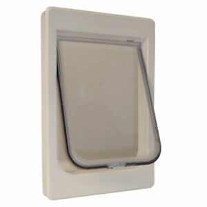"""Ideal Pet Products ChubbyKat Cat Door Large White 1.18"""" x 9.5"""" x 14.50"""""""