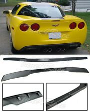 For 05-13 Corvette C6 ZR1 Style ABS Plastic Matte Black Rear Lip Spoiler Wing
