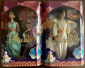 VINTAGE 1992 Disney's Doll Jasmine & Aladdin MATTEL NRFB 2548 2557