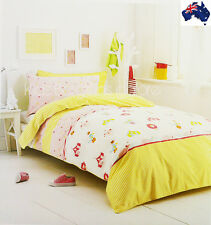 Girls-Aust Qlty-Circus Prnt-Single Bed Rvrsbl Doona/Duvet/Quilt Cover Set- 225TC