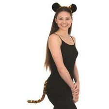 Tiger Kit Headband Ears & Tail Cat Tigers Animal Adult Cosplay Halloween Costume