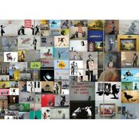 Banksy Collage Graffiti Giant Wall Mural Art Poster Print 47x33 Inches
