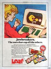 1985 LEAF 'JAWBREAKERS' 10p Bubblegum Print Advert - Vintage 'Pacman' Comic Ad