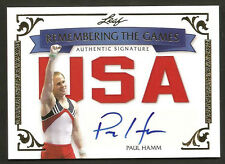 ~ 2012 Leaf PAUL HAMM Autograph 4/5 ~ Remembering the Games ~ Auto ~ USA ~