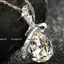 Diamond Necklace Crystal Pendant Chain Presents Gifts for Her Mum Women Xmas WE1