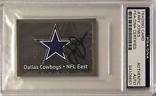 2012 Panini Jerry Jones Dallas Cowboys Firmado Auto Pegatina PSA/DNA O