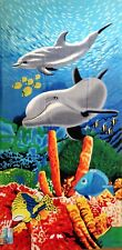 "30"" x 60"" Dolphins & Fish Lake, Beach, Pool Towel 100% Cotton NWT"