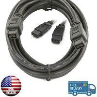 100% Brand New FireWire Cable 6 FT 800 FireWire DV Cable 9Pin to 9Pin 6 FT