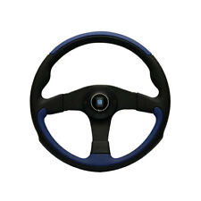 MK1 CADDY Steering Wheel, Nardi Leader, Black & Blue Leather, 350mm - WC400002