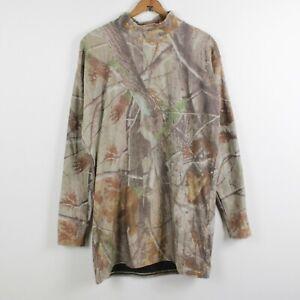 Under Armour Coldgear Camo Compression Shirt Mens 3XL Mockneck Hunting Thermal