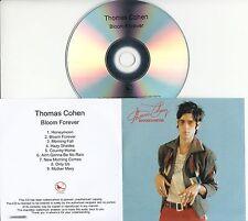 THOMAS COHEN Bloom Forever 2016 UK 9-trk numbered promo test CD S.C.U.M.