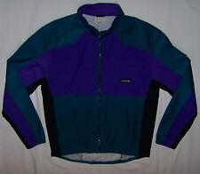 Vtg 80s 90s HIND COLOR BLOCK Windbreaker Running Track Full Zip Jacket Mens XL