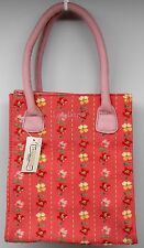 Longaberger Homestead Pink Dogwood Floral Tote Purse NEW with tag