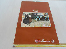ALFA ROMEO CALENDARIO 1981 ORIGINALE AUTO D'EPOCA 6C 2300 8C 2900